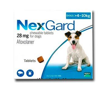 NEXGARD 28 MG 1 COMP 4-10 KG14 puntos